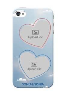 iPhone 4s Phone Cases: Blue Color Couple Design