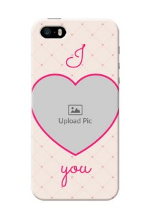 iPhone 5 Personalized Mobile Covers: Heart Shape Design