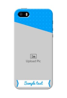 iPhone 5 Personalized Mobile Covers: Simple Blue Color Design