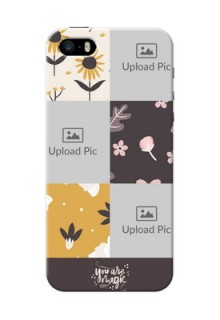 iPhone 5 phone cases online: 3 Images with Floral Design