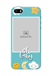 iPhone 5 Personalised Phone Cases: Smiley Kids Stars Design