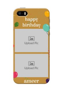iPhone 5 Phone Covers: Image Holder with Birthday Celebrations Design