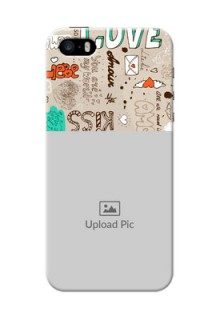 iPhone 5 Personalised mobile covers: Love Doodle Pattern