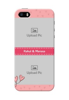 iPhone 5 phone back covers: Love Design Peach Color