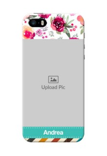 iPhone 5 Personalized Mobile Cases: Watercolor Floral Design