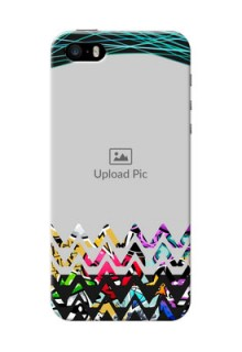 iPhone 5 personalized phone covers: Neon Abstract Design