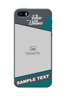 iPhone 5 Back Covers: Background Pattern Design with Quote