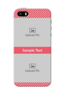 iPhone 5s Custom Mobile Case with White Dotted Design