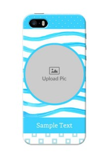 iPhone 5s phone back covers: Simple Blue Case Design