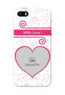 iPhone 5s Personalized Phone Cases: Heart Shape Love Design