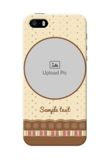 iPhone 5s Mobile Cases: Brown Dotted Mobile Case Design