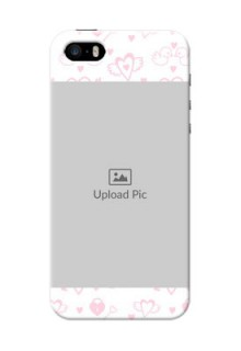iPhone 5s personalized phone covers: Pink Flying Heart Design