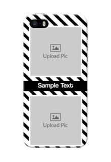 iPhone 5s Back Covers: Black And White Stripes Design