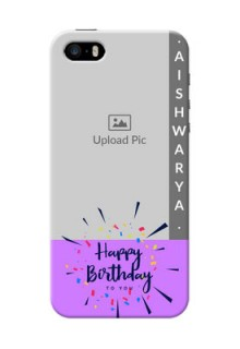 iPhone 5s Personalized Phone Cases: Birthday Icons Design