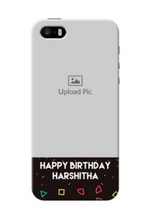 iPhone 5s custom mobile cases with confetti birthday design