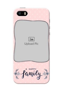 iPhone 5s Personalized Phone Cases: Family with Dots Design