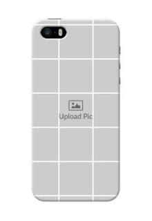 iPhone 5s personalised phone covers with white box pattern