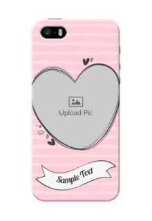 iPhone 5s custom mobile phone covers: Vintage Heart Design