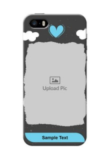 iPhone 5s Mobile Back Covers: splashes with love doodles Design