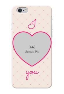 iPhone 6 Plus Personalized Mobile Covers: Heart Shape Design