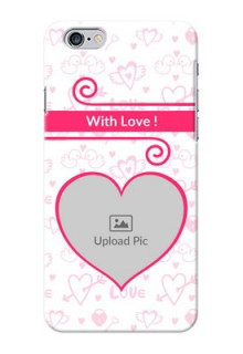 iPhone 6 Plus Personalized Phone Cases: Heart Shape Love Design