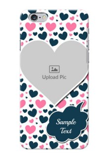 iPhone 6 Plus Mobile Covers Online: Pink & Blue Heart Design