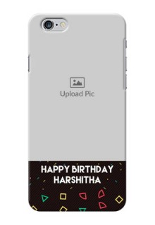 iPhone 6 Plus custom mobile cases with confetti birthday design