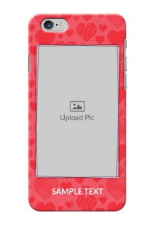 iPhone 6 Plus Mobile Back Covers: with Red Heart Symbols Design