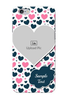 iPhone 6 Mobile Covers Online: Pink & Blue Heart Design