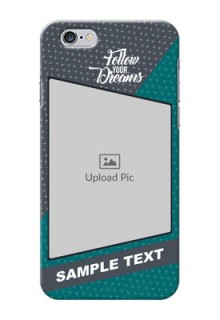 iPhone 6 Back Covers: Background Pattern Design with Quote