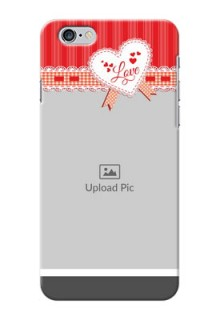 iPhone 6s Plus phone cases online: Red Love Pattern Design