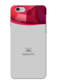 iPhone 6s Plus custom mobile back covers: Red Abstract Design