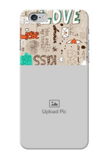 iPhone 6s Plus Personalised mobile covers: Love Doodle Pattern