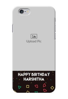 iPhone 6s custom mobile cases with confetti birthday design