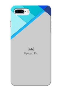iPhone 7 Plus Phone Cases Online: Blue Abstract Cover Design