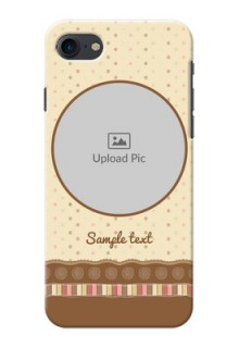 iPhone 7 Mobile Cases: Brown Dotted Mobile Case Design