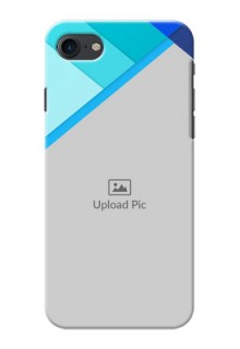 iPhone 7 Phone Cases Online: Blue Abstract Cover Design