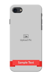 iPhone 7 Personalised mobile covers: Simple Red Color Design