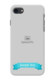 iPhone 7 Personalized Mobile Covers: Simple Blue Color Design