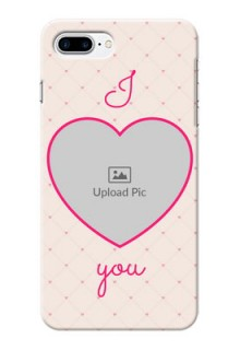 iPhone 8 Plus Personalized Mobile Covers: Heart Shape Design