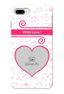 iPhone 8 Plus Personalized Phone Cases: Heart Shape Love Design