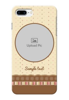 iPhone 8 Plus Mobile Cases: Brown Dotted Mobile Case Design