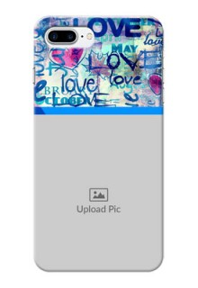 iPhone 8 Plus Mobile Covers Online: Colorful Love Design