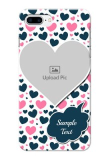 iPhone 8 Plus Mobile Covers Online: Pink & Blue Heart Design