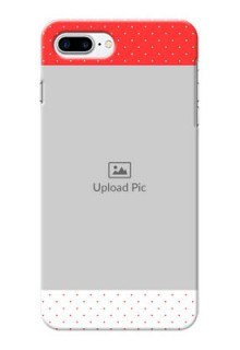 iPhone 8 Plus personalised phone covers: Red Pattern Design