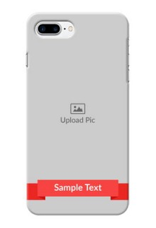 iPhone 8 Plus Personalised mobile covers: Simple Red Color Design