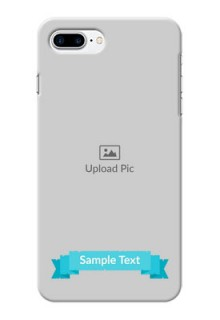 iPhone 8 Plus Personalized Mobile Covers: Simple Blue Color Design