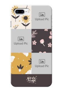 iPhone 8 Plus phone cases online: 3 Images with Floral Design
