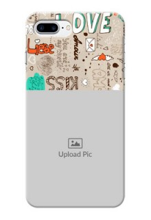 iPhone 8 Plus Personalised mobile covers: Love Doodle Pattern
