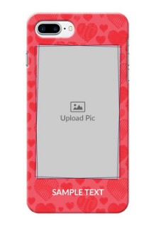iPhone 8 Plus Mobile Back Covers: with Red Heart Symbols Design